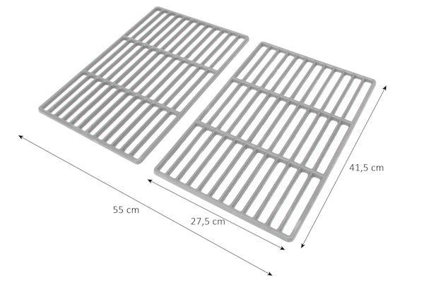 2x gussrost 41 5 x 27 5 cm im set grillrost gu eisen gusseisen ebay. Black Bedroom Furniture Sets. Home Design Ideas