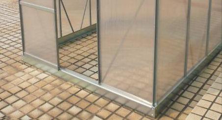 zelsius gew chshaus mit stahlfundament aluminium. Black Bedroom Furniture Sets. Home Design Ideas