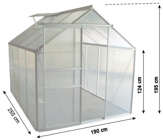 zelsius aluminium gew chshaus garten treibhaus 4 75m. Black Bedroom Furniture Sets. Home Design Ideas