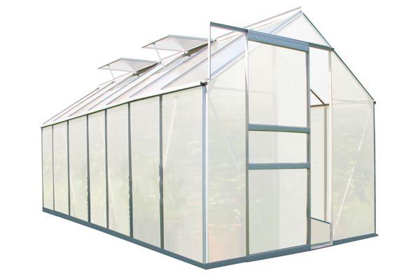 zelsius aluminium gew chshaus 430 x 190 cm 7 segm 6 mm platten. Black Bedroom Furniture Sets. Home Design Ideas