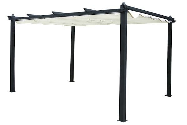 campfeuer pergola 3 x 4m markise standmarkise terrassen sonnenschutz ebay. Black Bedroom Furniture Sets. Home Design Ideas