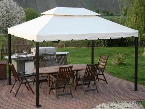Gartenzelt Pavillon Gebraucht : Luxus pavillion valencia m creme beige g m² ebay