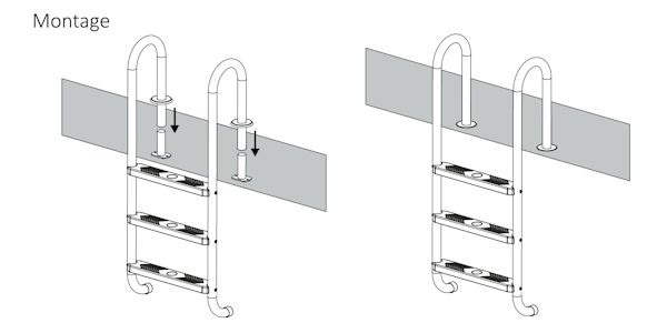 zelsius edelstahl pool und schwimmbad leiter mit 3 stufen. Black Bedroom Furniture Sets. Home Design Ideas