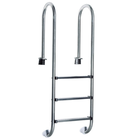 Edelstahl poolleiter pool leiter schwimmbad treppe b ware for Edelstahl schwimmbad