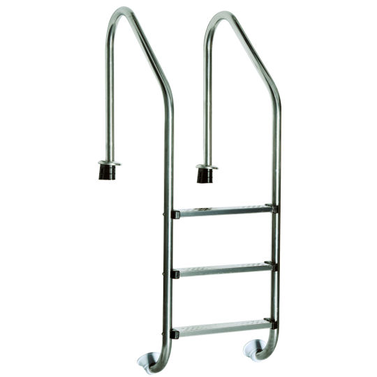 Edelstahl poolleiter pool leiter schwimmbad treppe m2 ebay for Poolleiter obi
