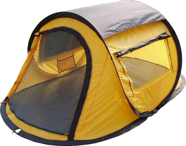 campfeuer sekundenzelt wurfzelt 2 personen quicktent orange sport freizeit. Black Bedroom Furniture Sets. Home Design Ideas