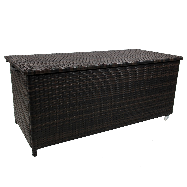 polyrattan auflagenbox kissentruhe auflagentruhe gartentruhe gartenbox farbwahl. Black Bedroom Furniture Sets. Home Design Ideas