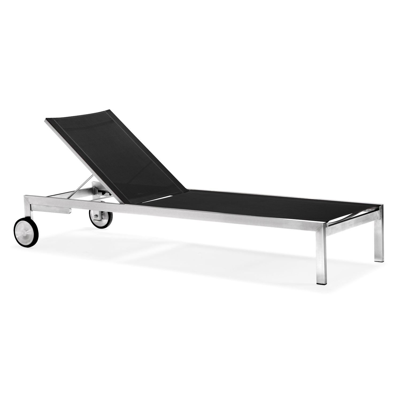 zelsius gartenliege wellnessliege premium relaxliege edelstahl batyline ebay. Black Bedroom Furniture Sets. Home Design Ideas