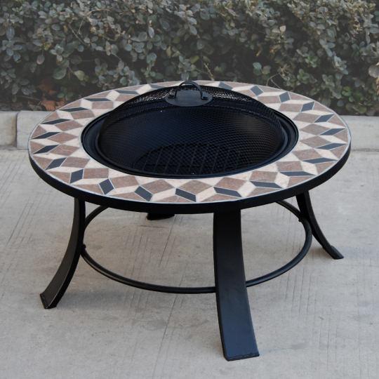 feuerschale terrassenofen 77cm stein dekor garten. Black Bedroom Furniture Sets. Home Design Ideas