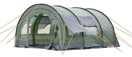 tunnelzelt zelt 2 kabinen 6 personen versetzb wand neu. Black Bedroom Furniture Sets. Home Design Ideas