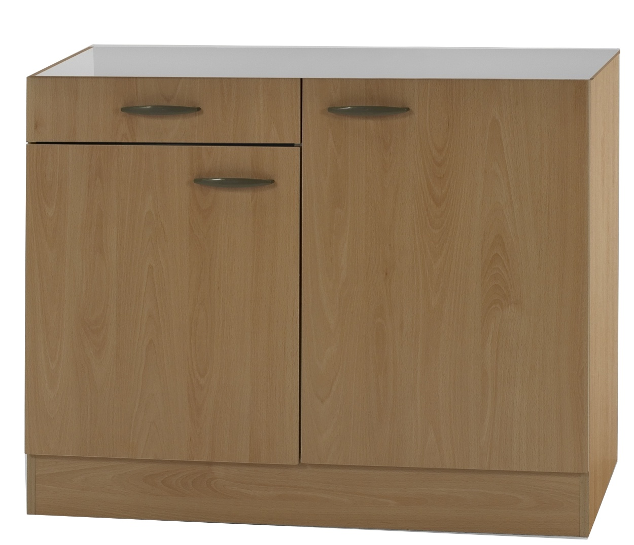 klassik60 sp lenschrank 100cm breit mit schublade buche splso106 ebay. Black Bedroom Furniture Sets. Home Design Ideas