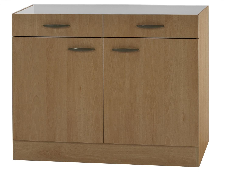 klassik60 unterschrank 100 cm breit buche uo106 ebay. Black Bedroom Furniture Sets. Home Design Ideas