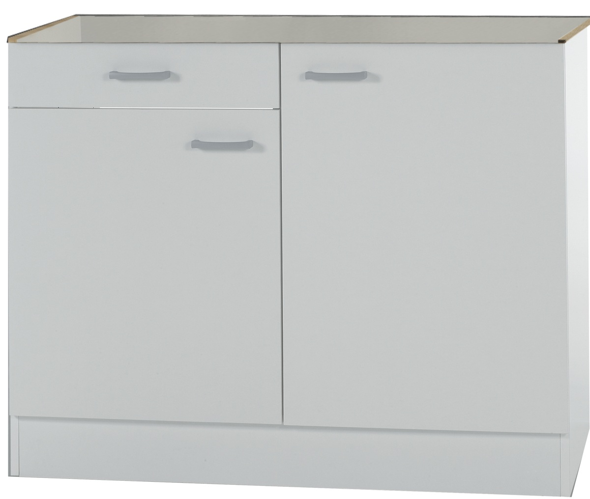 klassik60 sp lenschrank 100cm breit mit schublade wei splso106 ebay. Black Bedroom Furniture Sets. Home Design Ideas