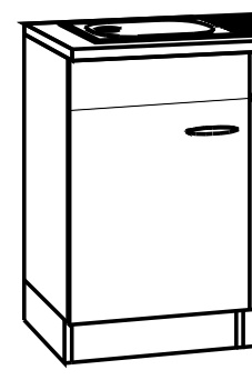 sprint bayern sp lenschrank 50 cm breit spo506 wei restposten ebay. Black Bedroom Furniture Sets. Home Design Ideas