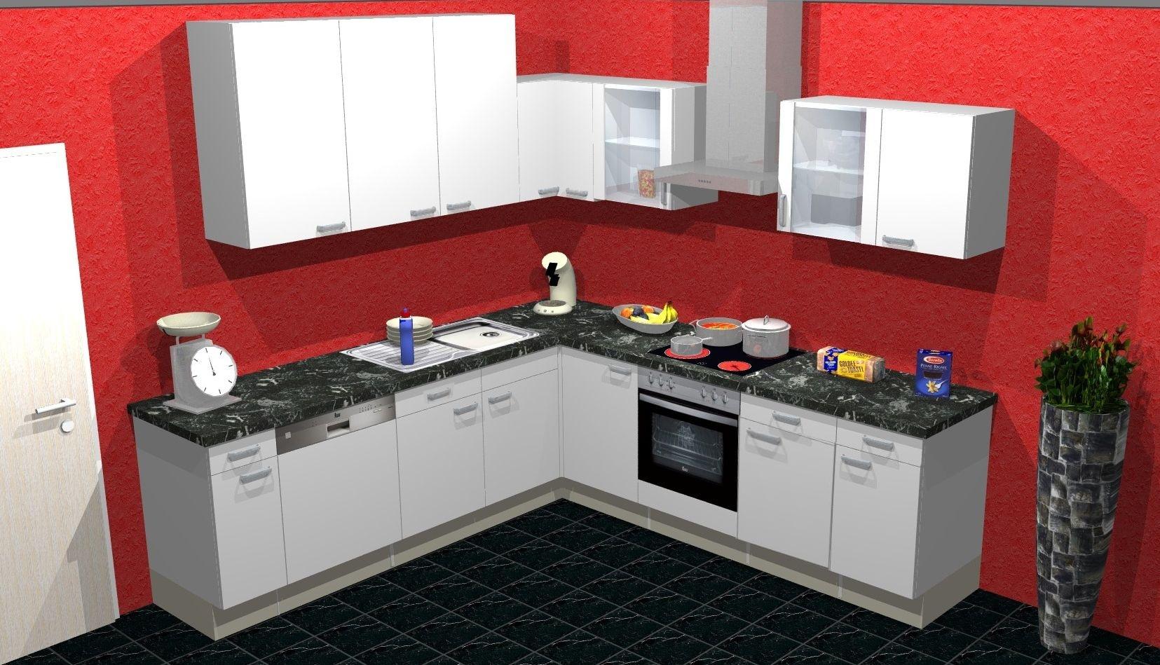 g nstige winkelk chen mit elektroger ten kreative ideen. Black Bedroom Furniture Sets. Home Design Ideas