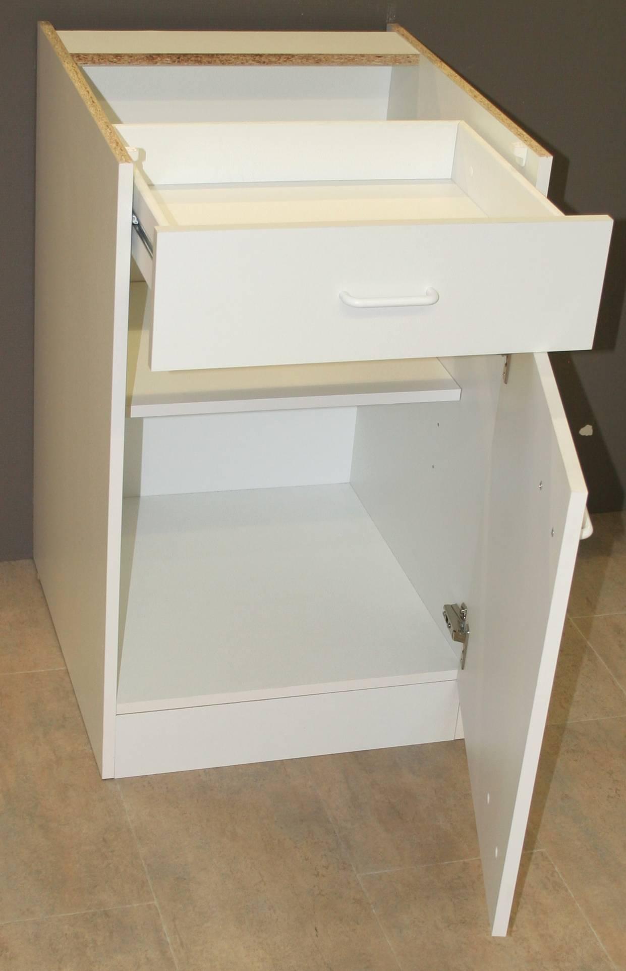 sprint bayern unterschrank 60 cm breit uo606 wei 82 cm hoch restposten ebay. Black Bedroom Furniture Sets. Home Design Ideas