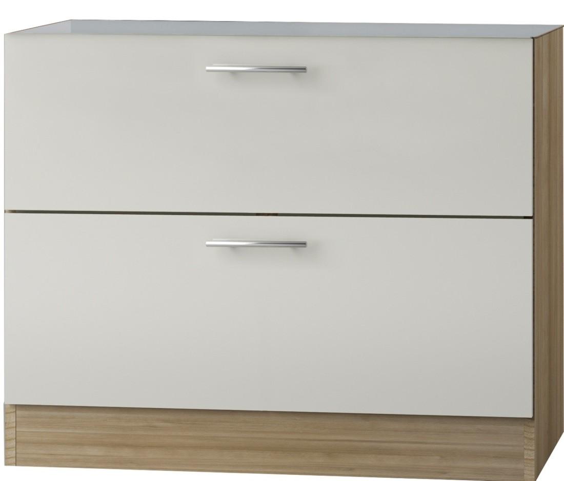 kult bilbao unterschrank 100cm breit creme glanz uo126. Black Bedroom Furniture Sets. Home Design Ideas