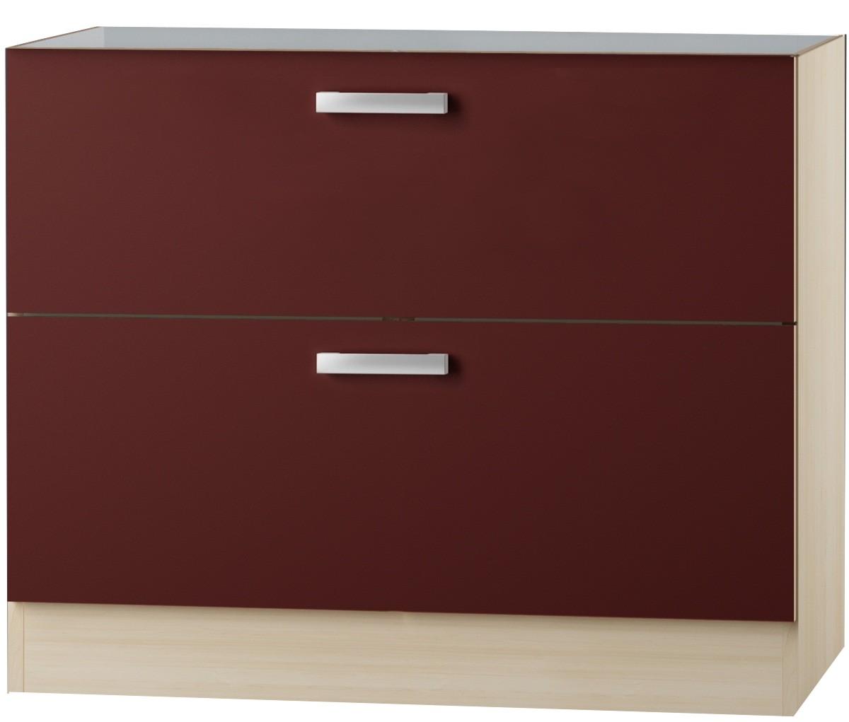 kult bergamo unterschrank 100 cm breit bordeaux rot uo126 ebay. Black Bedroom Furniture Sets. Home Design Ideas