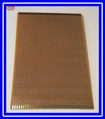 KEMO-E002-Experimentier-Platinen-100x160x1-6mm-Punktraster-1-Stueck