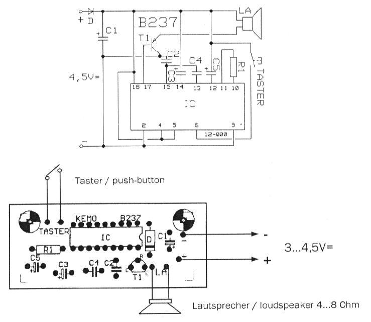 allerlei artikel an der autobahn e k   kemo b237 6 melodien generator 6