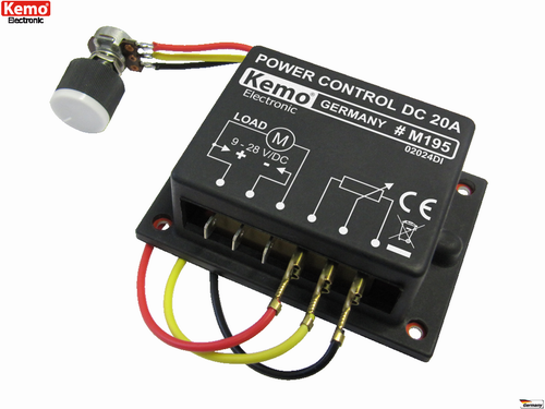 KEMO-M195-PWM-Power-control-9-28-V-DC-max-20-A-Made-in-Germany