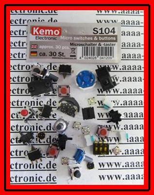 KEMO-S104-Microschalter-Microtaster-Sortiment