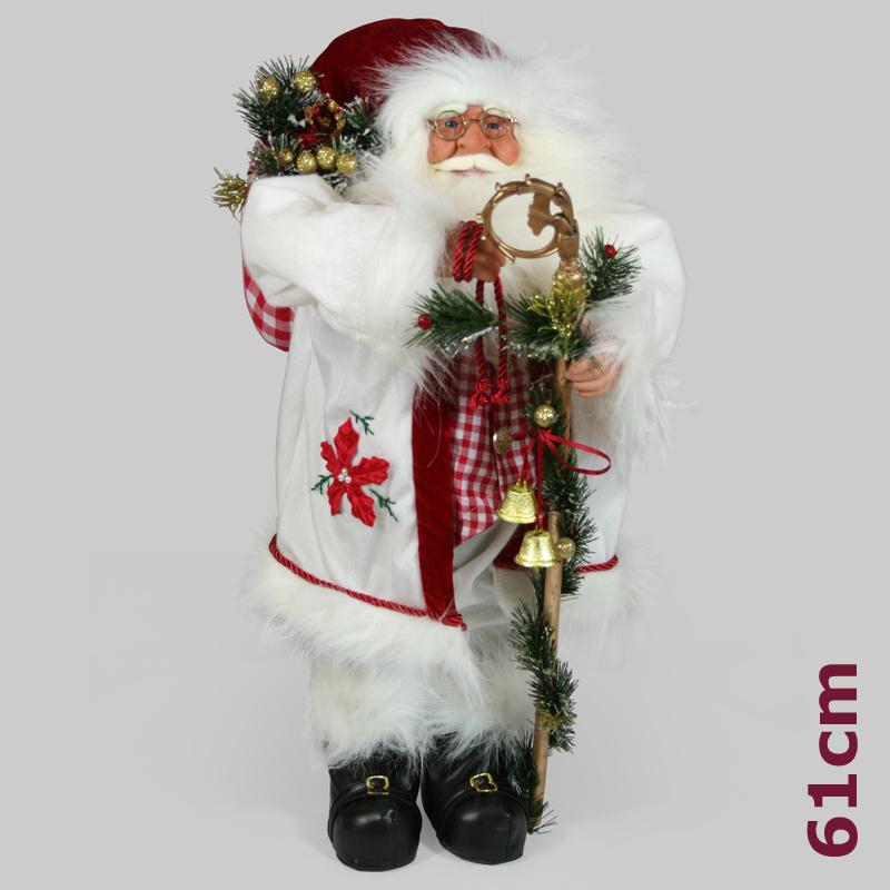 Nikolaus Weihnachtsmann 61cm Gro Stehend Figur Puppe