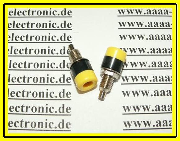 HIRSCHMANN-Einbaubuchse-gelb-schwarz-4mm-1-Stueck
