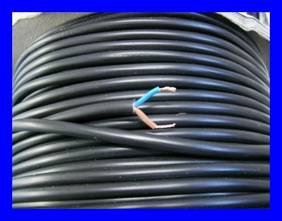 2 adriges kabel sehr flexibel schwarz 0 5 mm 100m. Black Bedroom Furniture Sets. Home Design Ideas
