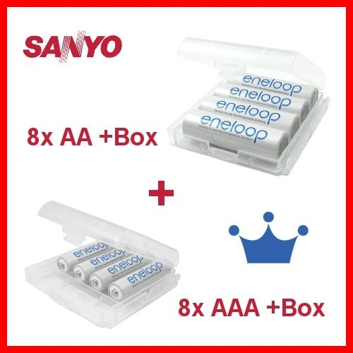 8x-Sanyo-eneloop-AA-8x-eneloop-AAA-Akkus-4x-Akku-Boxen