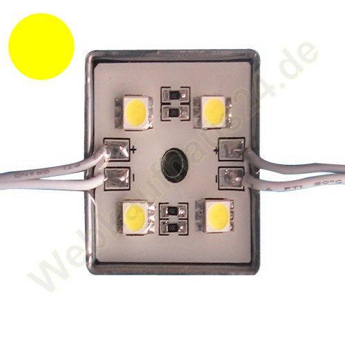 led modul kette leiste leuchtmittel 12v 12 volt dc wasserdicht ip68 4 x smd ebay. Black Bedroom Furniture Sets. Home Design Ideas