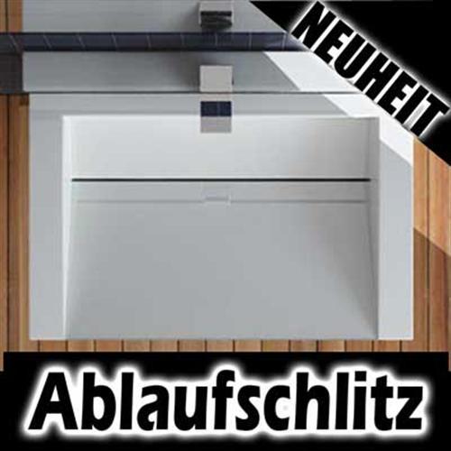 DESIGN ABLAUFSCHLITZ WASCHBECKEN WASCHTISCH 60CM / 70CM | eBay | {Waschbecken design eckig 11}
