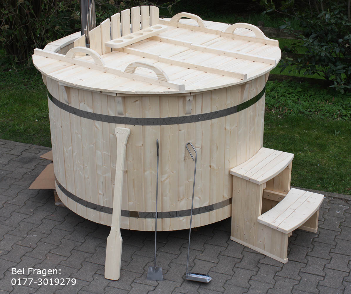 hot tub badefass 180cm neu badezuber holz badewanne neu hottubs ofen tubs ebay. Black Bedroom Furniture Sets. Home Design Ideas