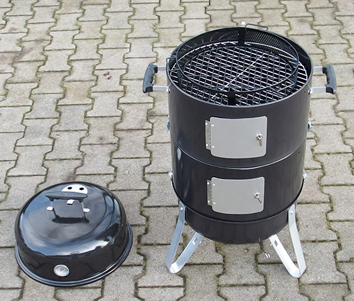 smoker grill neu r ucherofen grillofen grilltonne r uchertonne kohlegrill ofen ebay. Black Bedroom Furniture Sets. Home Design Ideas