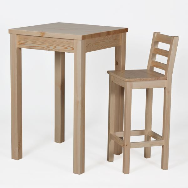 Barstuhl barhocker stuhl hocker krasi h77 kiefer massiv for Barhocker designklassiker