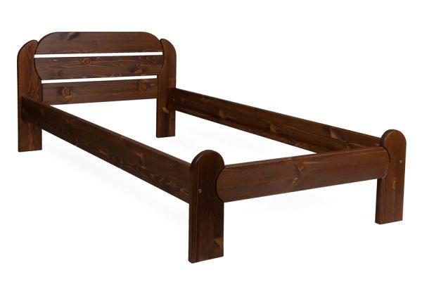 bett holzbett silvia 100x200 kiefer massiv braun lackiert kaufen bei. Black Bedroom Furniture Sets. Home Design Ideas
