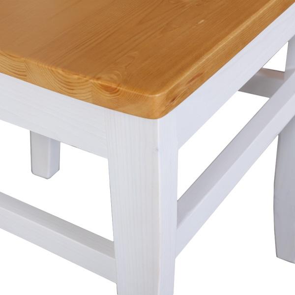 2er set st hle stuhl remi kiefer massiv holz weiss honig lackiert neu ebay. Black Bedroom Furniture Sets. Home Design Ideas