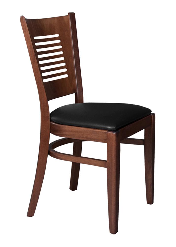 Set 2 st hle stuhl buche holz braun gepolstert schwarz tg004 - Stuhl holz schwarz ...