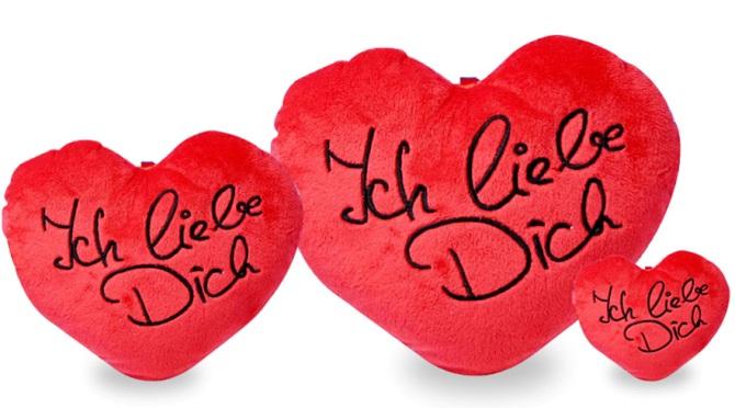 ... Herz Kissen ICH LIEBE DICH Geschenk Valentinstag 8cm