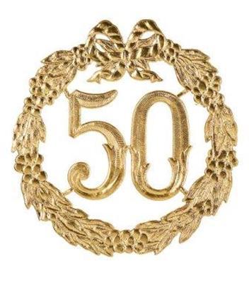 Anniversary number 50 golden wedding 24cm large decoration for Goldene hochzeit dekoration
