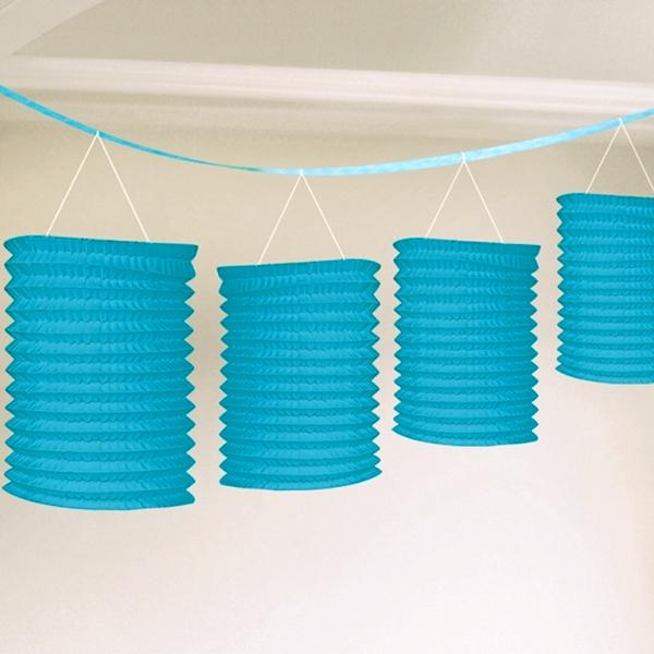 (1,63€/m) Girlande mit 8 Laternen Party Dekoration Hochzeit Farben Kette NEU