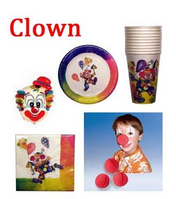auswahl artikel clown kinder geburtstag dekoration party. Black Bedroom Furniture Sets. Home Design Ideas