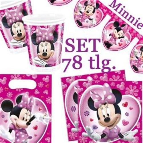 Komplett Set Minnie Maus Kinder Geburtstags Party Einweg Geschirr ...