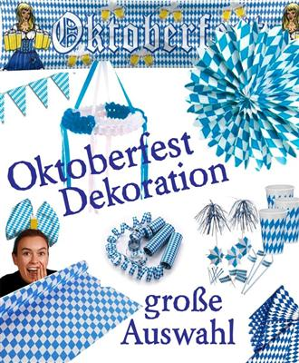 bavaria oktoberfest motto party dekoration stimmung blau. Black Bedroom Furniture Sets. Home Design Ideas
