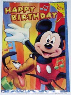 geburtstagskarte mit musik happy birthday mickey pluto. Black Bedroom Furniture Sets. Home Design Ideas