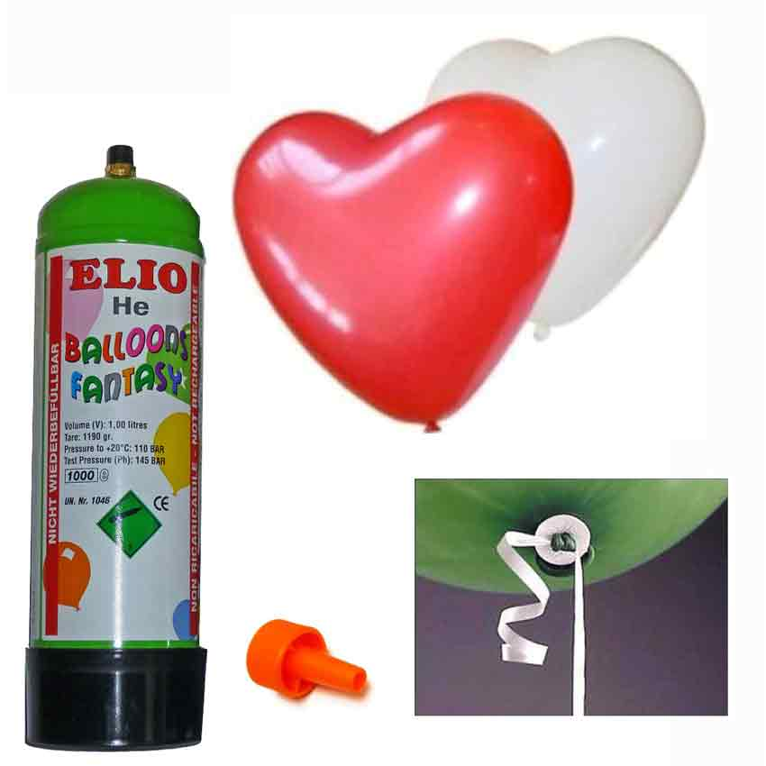 helium set mit 15 herz luft ballons zum steigen lassen. Black Bedroom Furniture Sets. Home Design Ideas