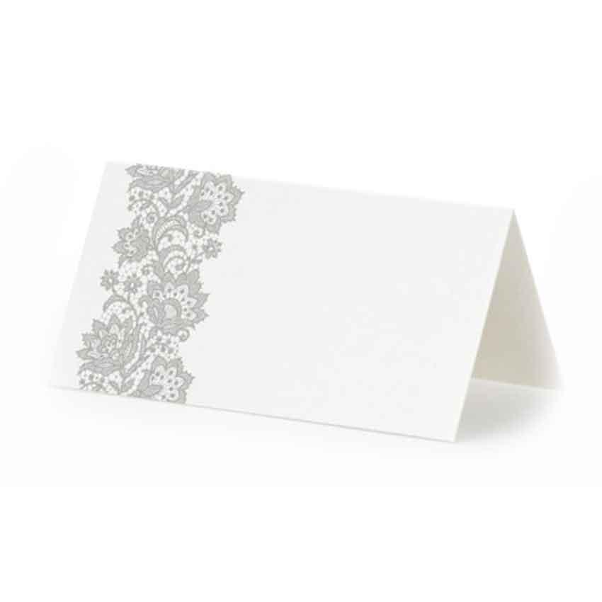 25 wei e tisch k rtchen platz namens karten mit ornamenten klassisch elegant ebay. Black Bedroom Furniture Sets. Home Design Ideas
