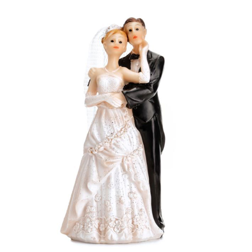 Dekofigur-11cm-Brautpaar-Hochzeits-Figur-romantisch-elegant-stilvolle-Erinnerung