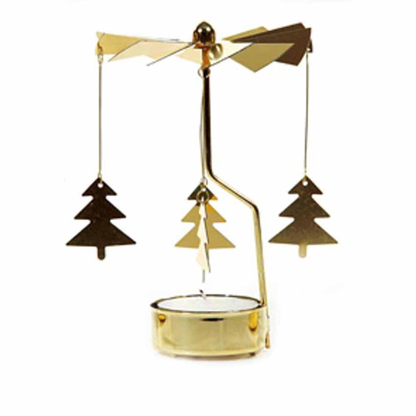 Teelichthalter karussell weihnachten advent dekoration for Dekoration metall