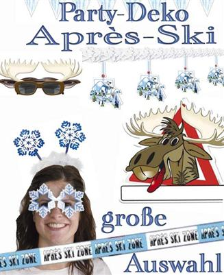apr s ski party winter apres eis kristalle dekoration rentier spa pisten fete ebay. Black Bedroom Furniture Sets. Home Design Ideas